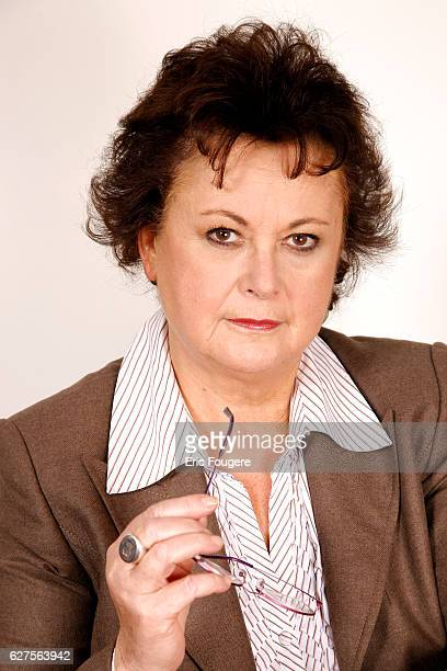 French Politician Christine Boutin Photographed in PARIS