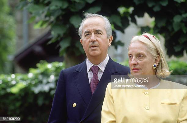 French politician Edouard Balladur and his wife MarieJosephe appear at their home in DeauvillelesBains France Balladur would become prime minister of...