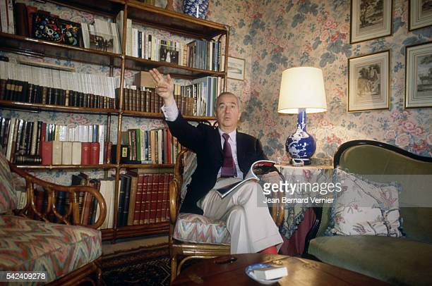 French politician Edouard Balladur sits in his home in DeauvillelesBains France Balladur would become prime minister of France from 19931995 |...