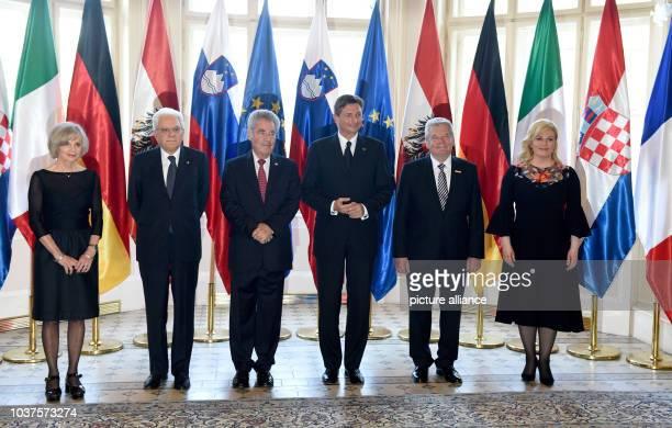 French politician Elisabeth Guigou Italian President Sergio Mattarella Austrian President Heinz Fischer Slovenian President Borut Pahor German...