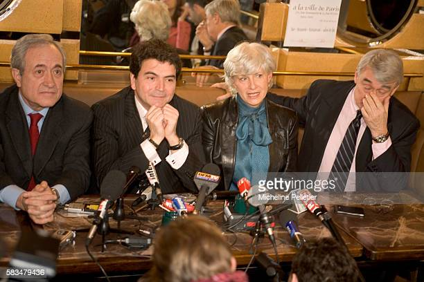 French politician Françoise de Panafieu representing the French political party the UMP in the municipal elections after the withdrawal of Claude...