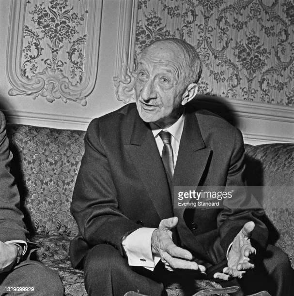 French politician Georges Bonnet of the Chamber of Deputies, UK, 1st April 1965.