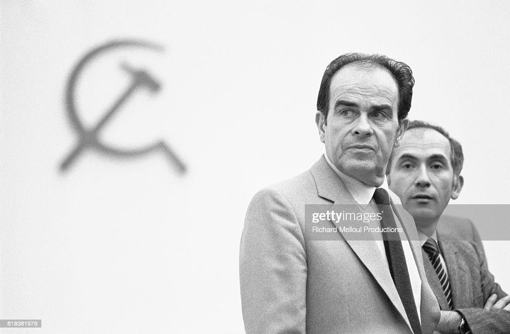 Georges Marchais at French Communist Party Convention : Photo d'actualité