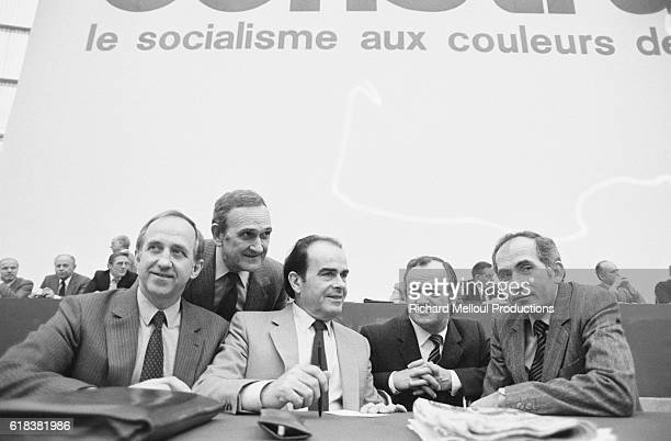 French politician Georges Marchais attends the 1982 French Communist Party congress in Paris At the convention Marchais was reelected as the party's...