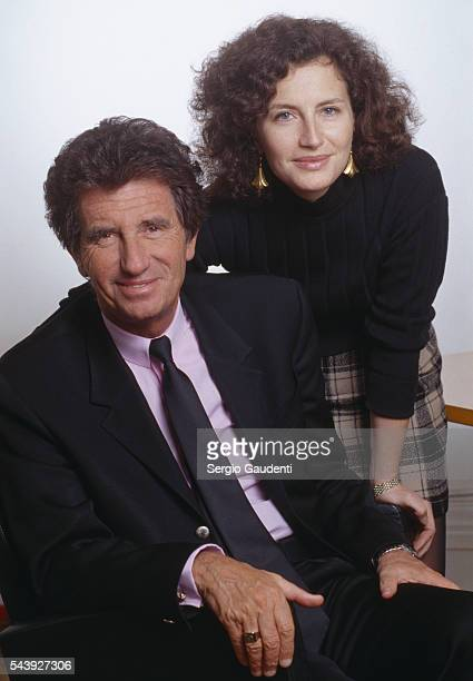French politician Jack Lang with his daughter Caroline Lang