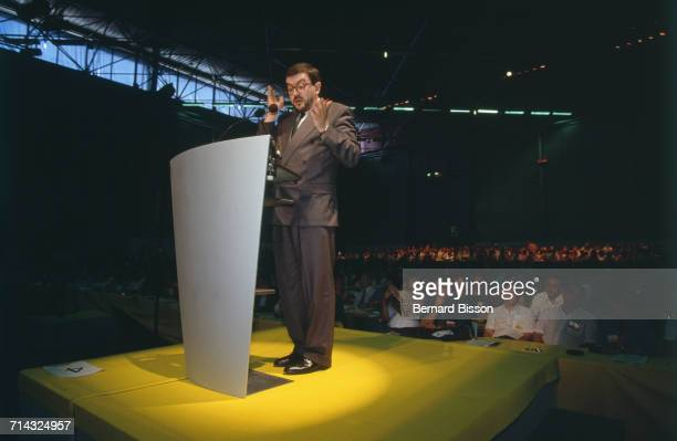 French politician JeanLuc Mélenchon attends the Estates General of the Socialist Party in Lyon France 4th July 1993