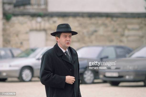 French politician JeanLuc Mélenchon on his way to a government meeting at the Paris Observatory 31st March 2001