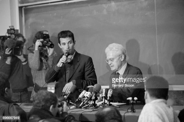 French politician Lionel Jospin campaigning as the Socialist Party candidate for President in the commune of Créteil in the suburbs of Paris 4th...