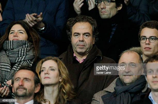 French politician Luc Chatel attends the French Ligue 1 between Paris SaintGermain FC and LOSC Lille FC at Parc Des Princes on december 22 2013 in...