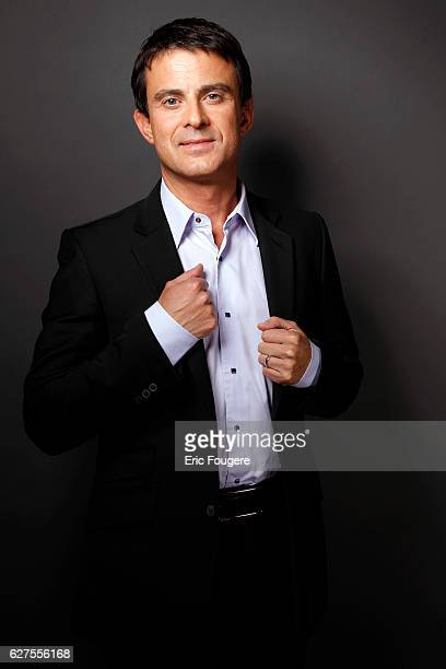 French Politician Manuel Valls Photographed in PARIS