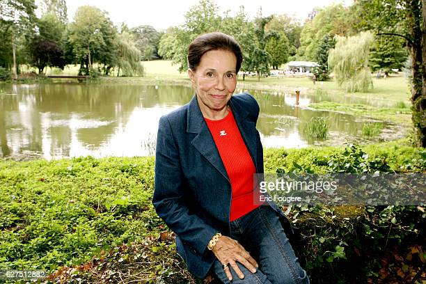 French politician MarieFrance Garaud at the Foret Des Livres exhibition created and organized by Gonzague Saint Bris