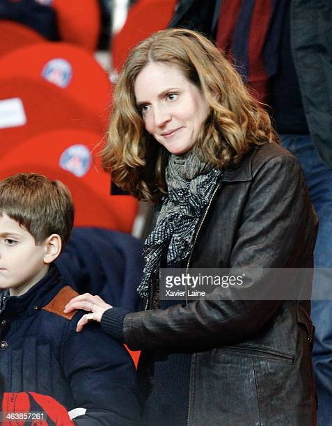 French politician Nathalie KosciuskoMorizet attends the French Ligue 1 between Paris SaintGermain FC and FC Nantes at Parc Des Princes on January 19...