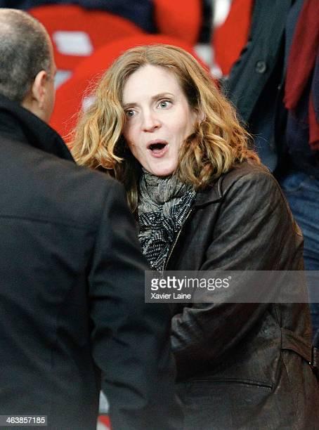 French politician Nathalie KosciuskoMorizet attendsthe French Ligue 1 between Paris SaintGermain FC and FC Nantes at Parc Des Princes on January 19...