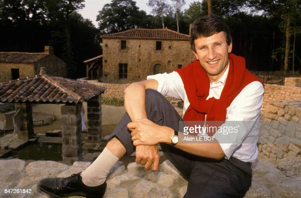 French politician Philippe de Villiers at Le Puy du Fou a historical theme park in the heart of the Vendee region on June 17 1989 in Les Epesses...