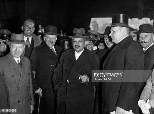 French politician Pierre Laval next to him von Rintelen and FrancoisPoncet after his trip from Krakow in Berlin Photographer Atelier Balassa...