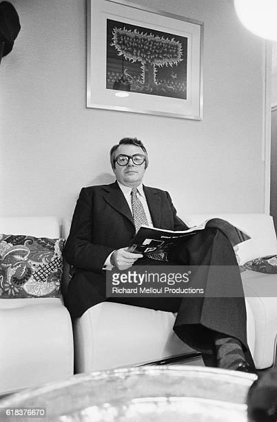 French Politician Pierre Mauroy in Living Room