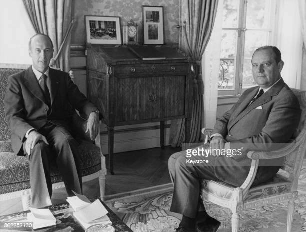 French politician Raymond Barre is appointed Prime Minister by President Valéry Giscard d'Estaing at the Élysée Palace in Paris, 26th August 1976.