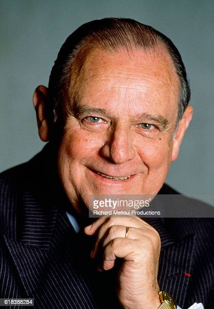 French politician Raymond Barre smiles with a hand to his chin Barre was Prime Minister of France from 1976 to 1981