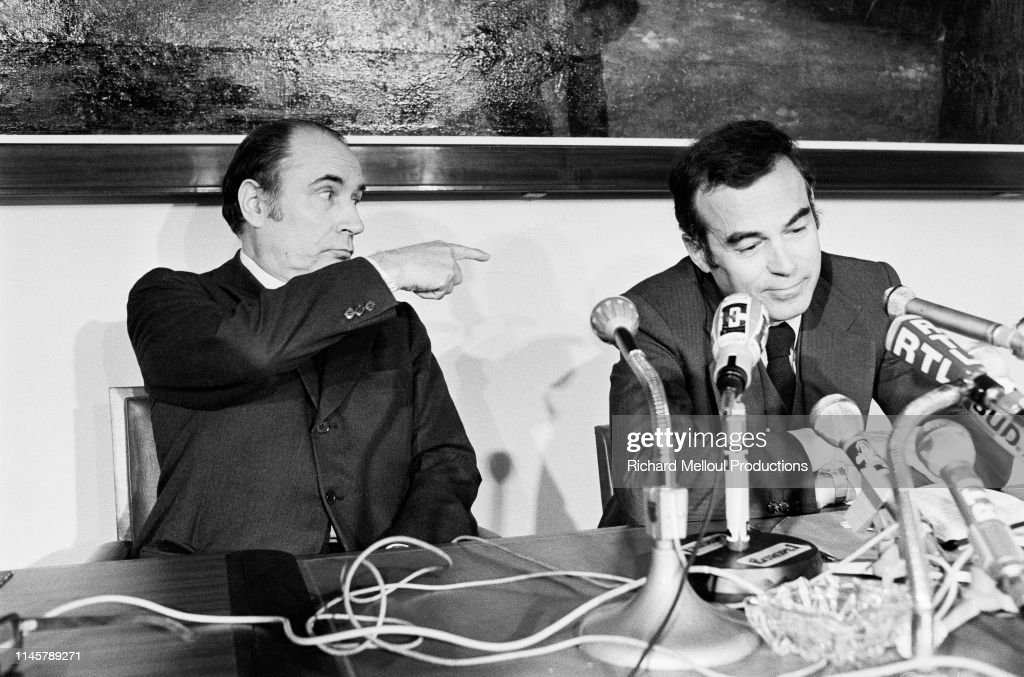 Francois Mitterrand and Robert Badinter : Photo d'actualité