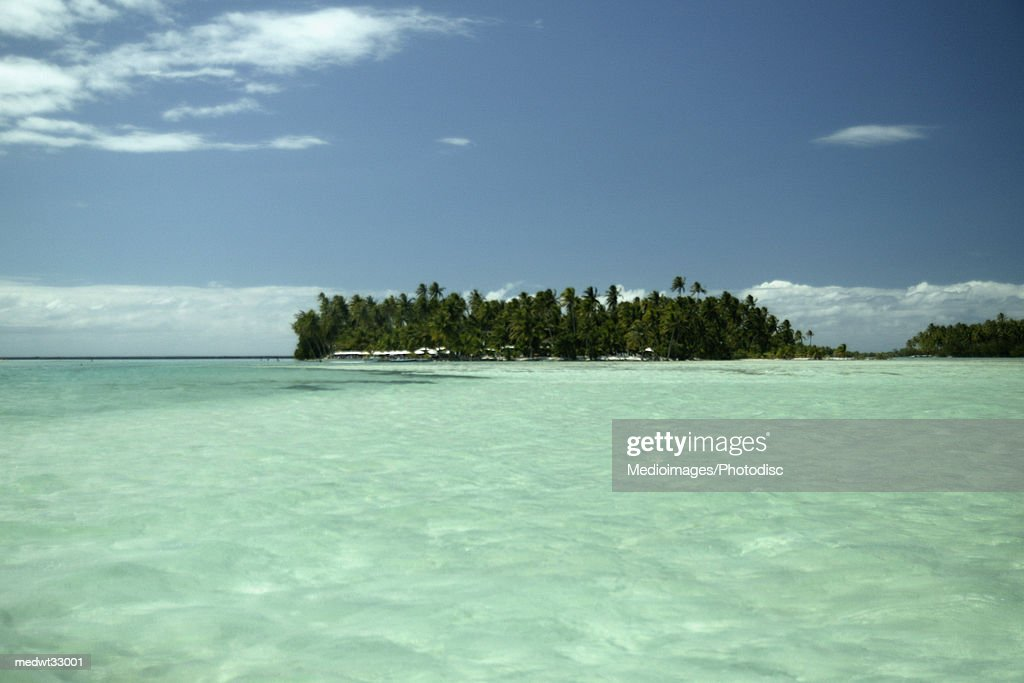 French Polynesia Bora Bora Motu Island View Of A Beach From