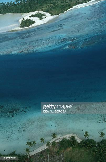 French Polynesia Society Islands Windward Islands Maupiti island a stretch of coast