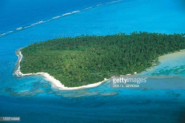 French Polynesia Society Islands Windward Islands Maupiti island coral atoll