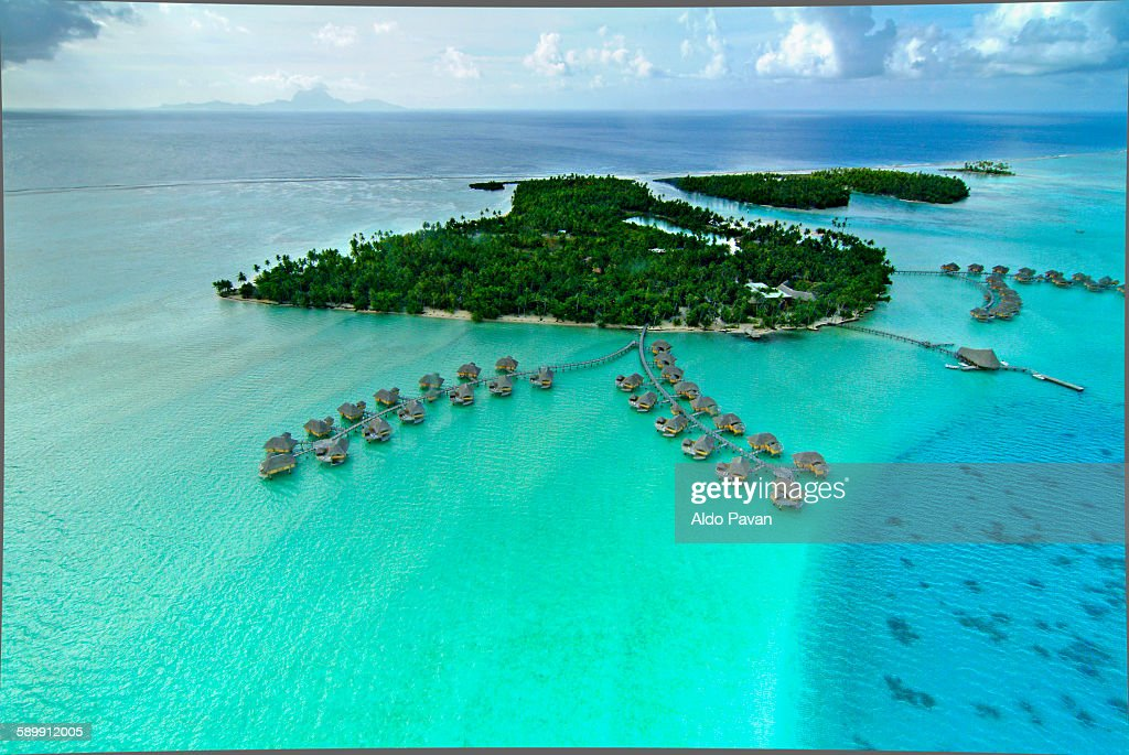 French Polynesia Tahaa Island Le Tahaa Resort Stock Photo