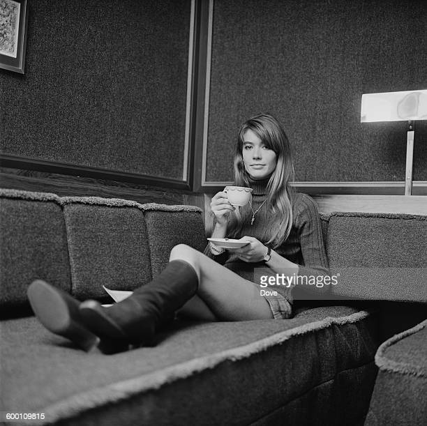French pop singer Francoise Hardy, UK, 10th November 1967.