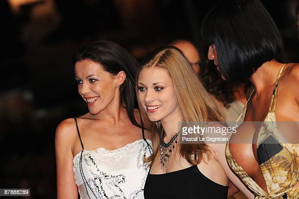 French porn stars Estelle Desanges, Carla Nova and Tina Lys attend the Drag Me To Hell Premiere held at the Palais Des Festivals during the 62nd...
