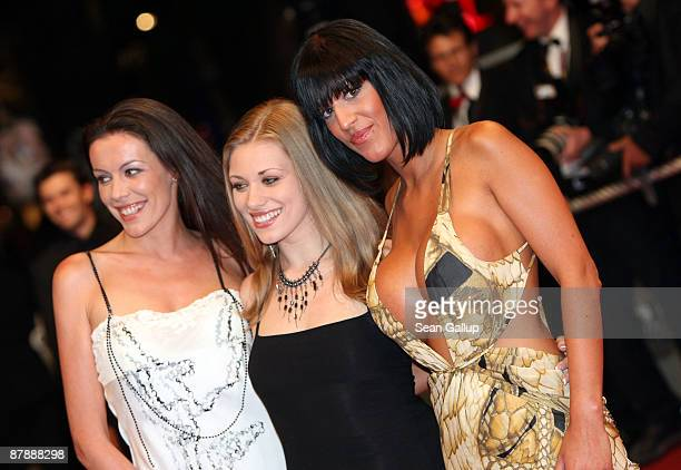 French porn stars Estelle Desanges Carla Nova and Tina Lys attend the Drag Me To Hell Premiere held at the Palais Des Festivals during the 62nd...