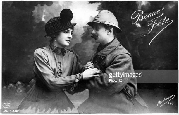 French postcard during the WWI