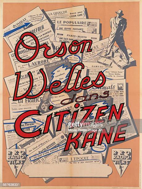 A French poster for Orson Welles' 1941 drama 'Citizen Kane'