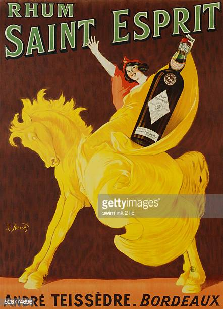 French Poster for Rhum Saint Esprit by J Spring