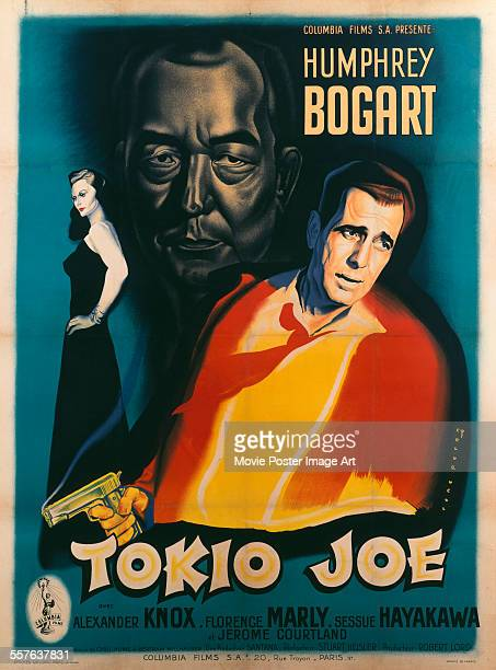 A French poster for Stuart Heisler's 1949 crime film 'Tokyo Joe' starring Florence Marly Sessue Hayakawa and Humphrey Bogart