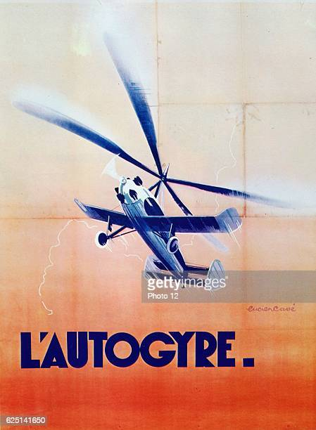 French poster for the Autogiro the invention of the Spanish engineer Juan de la Cievra First successful model 1923 Chromolithograph