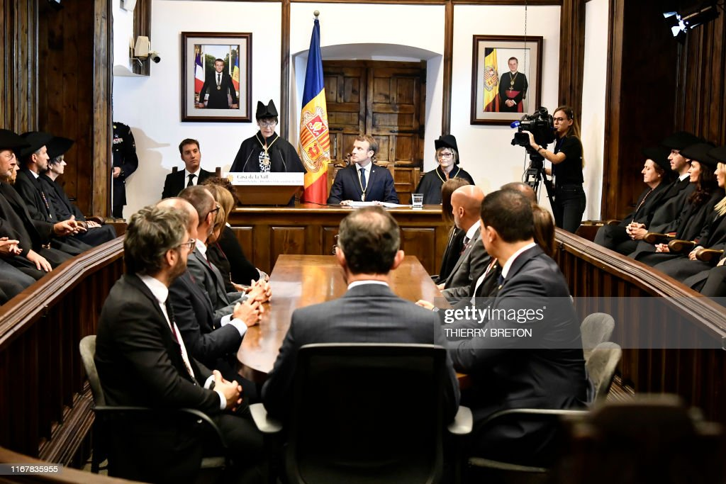 French President And Co Prince Of Andorra Emmanuel Macron Takes Part News Photo Getty Images