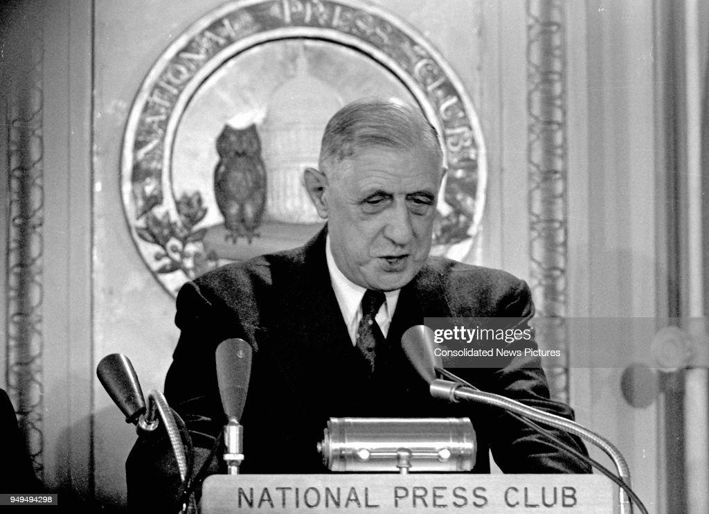 President De Gaulle At National Press Club : Fotografia de notícias