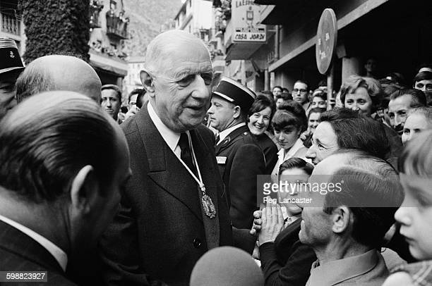 French President Charles de Gaulle visits Andorra of which he is the CoPrince 9th November 1967