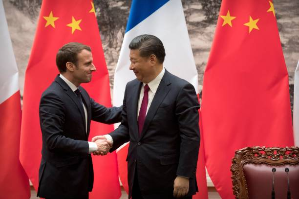 Image result for MACRON XI JINPING