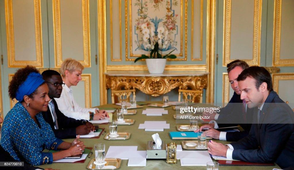FRANCE-POLITICS-GOVERNMENT-CULTURE-LANGUAGE-FRANCOPHONIE-IOF : Nieuwsfoto's