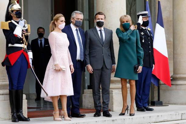 FRA: French President Emmanuel Macron Hosts Argentinian Counterpart Alberto Angel Fernandez