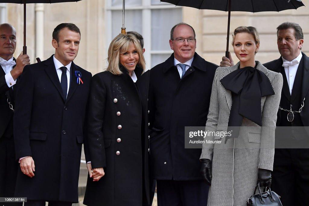 CASA PRINCIPESCA DE MÓNACO - Página 76 French-president-emmanuel-macron-and-french-first-lady-brigitte-ii-picture-id1060138184