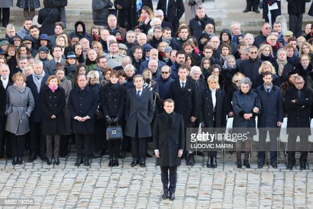 French President Emmanuel Macron and French Labour Minister Muriel Pénicaud French Defence Minister Florence Parly former French President Francois...