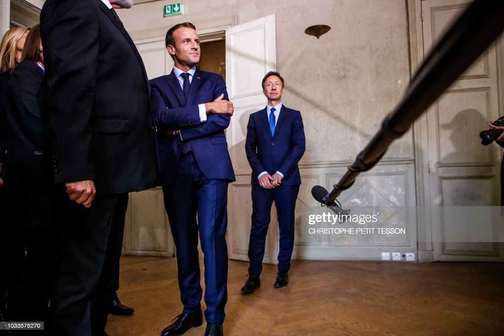 French President Emmanuel Macron , and French TV host