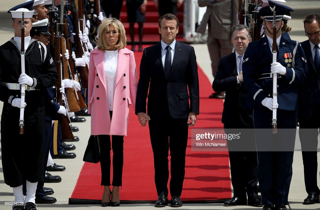 President Macron Of France Arrives In U.S. For State Visit With Trump
