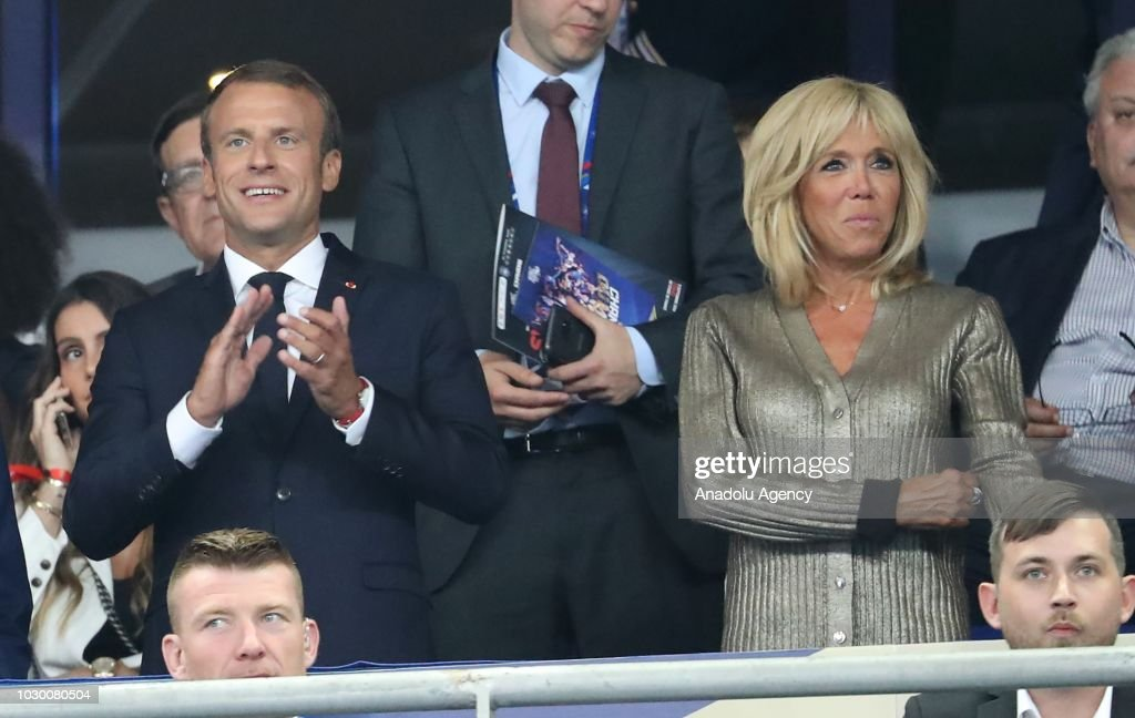 French President Emmanuel Macron And His Wife Brigitte Attend The News Photo Getty Images