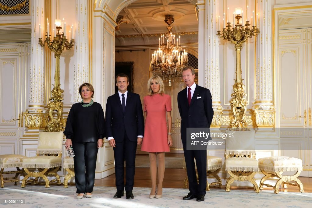 LUXEMBOURG-FRANCE-POLITICS-DIPLOMACY : News Photo