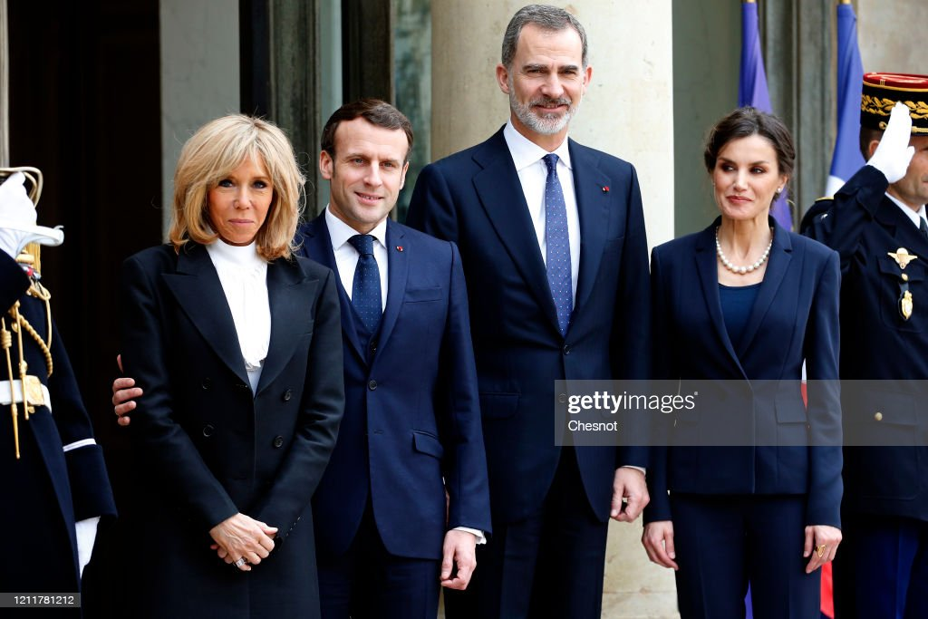 French President Emmanuel Macron And His Wife Brigitte Macron Welcome News Photo Getty Images