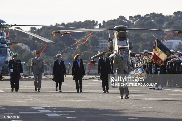 French President Emmanuel Macron and the President's Chief of Staff Admiral Bernard Rogel French Army Chief of Staff General Francois Lecointre...
