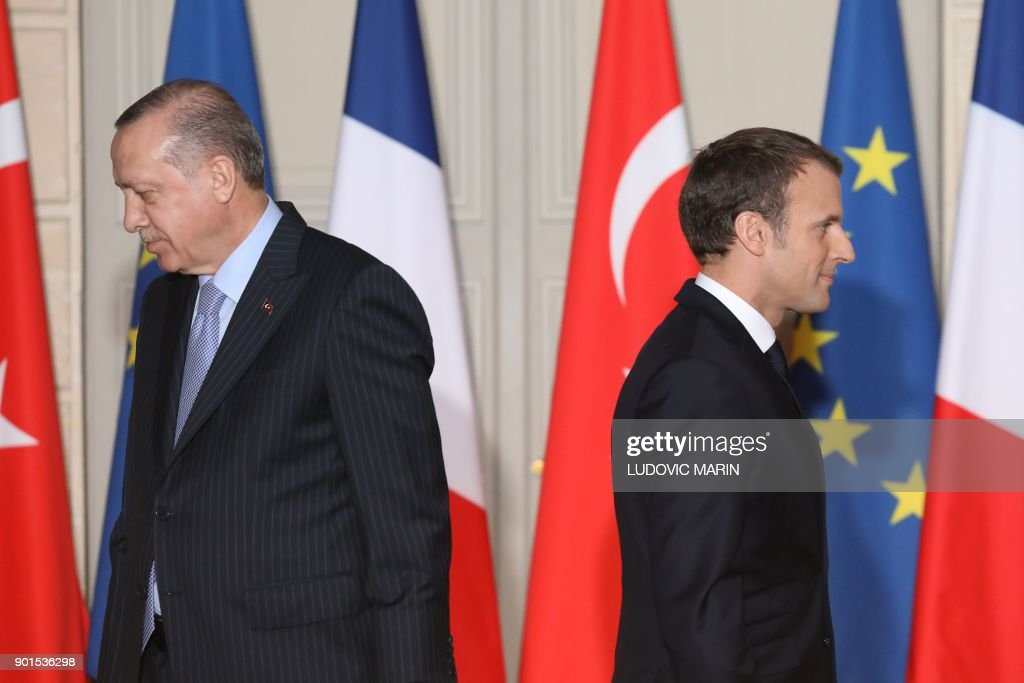TOPSHOT-FRANCE-TURKEY-POLITICS-DIPLOMACY : News Photo